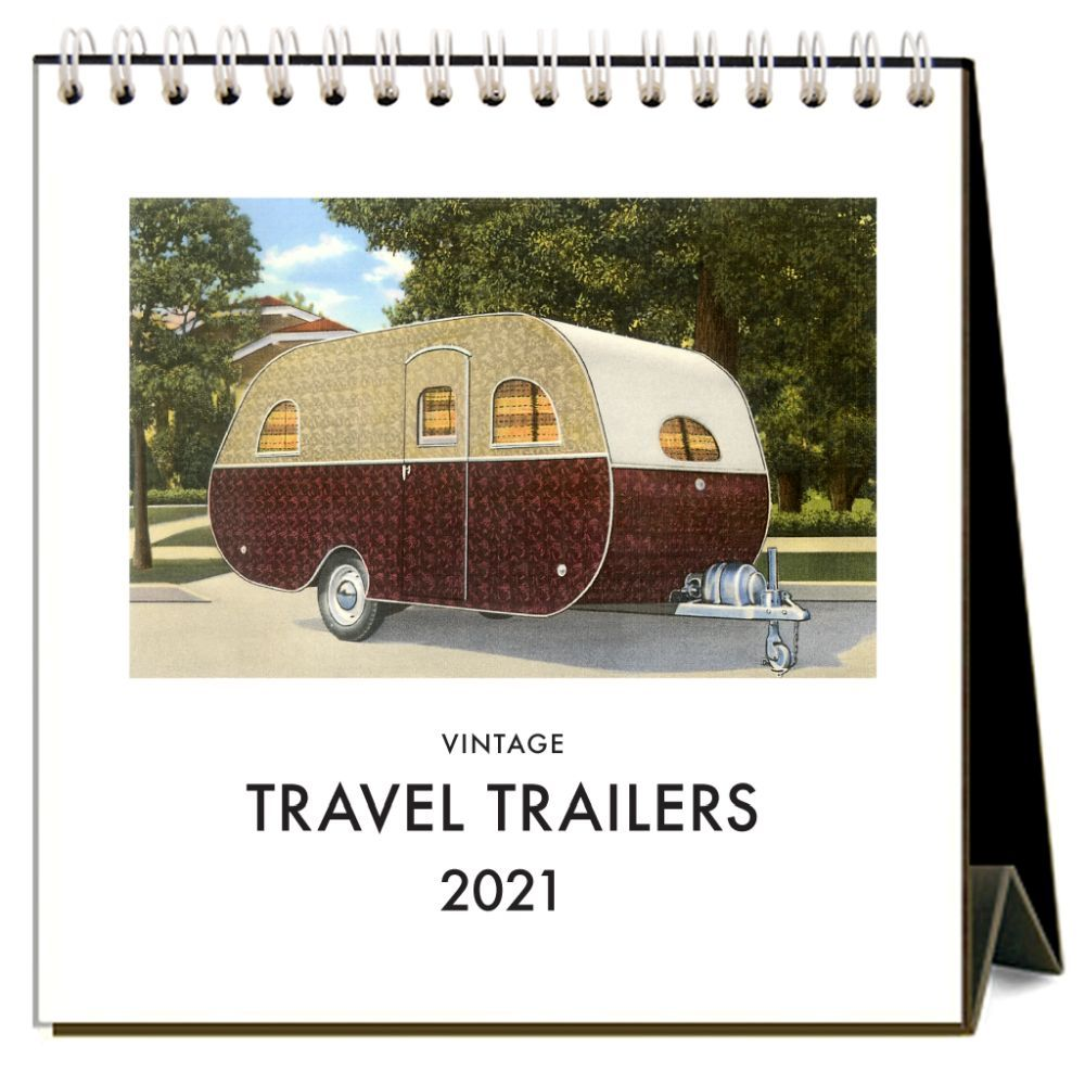 2021 Travel Trailers Easel Calendar