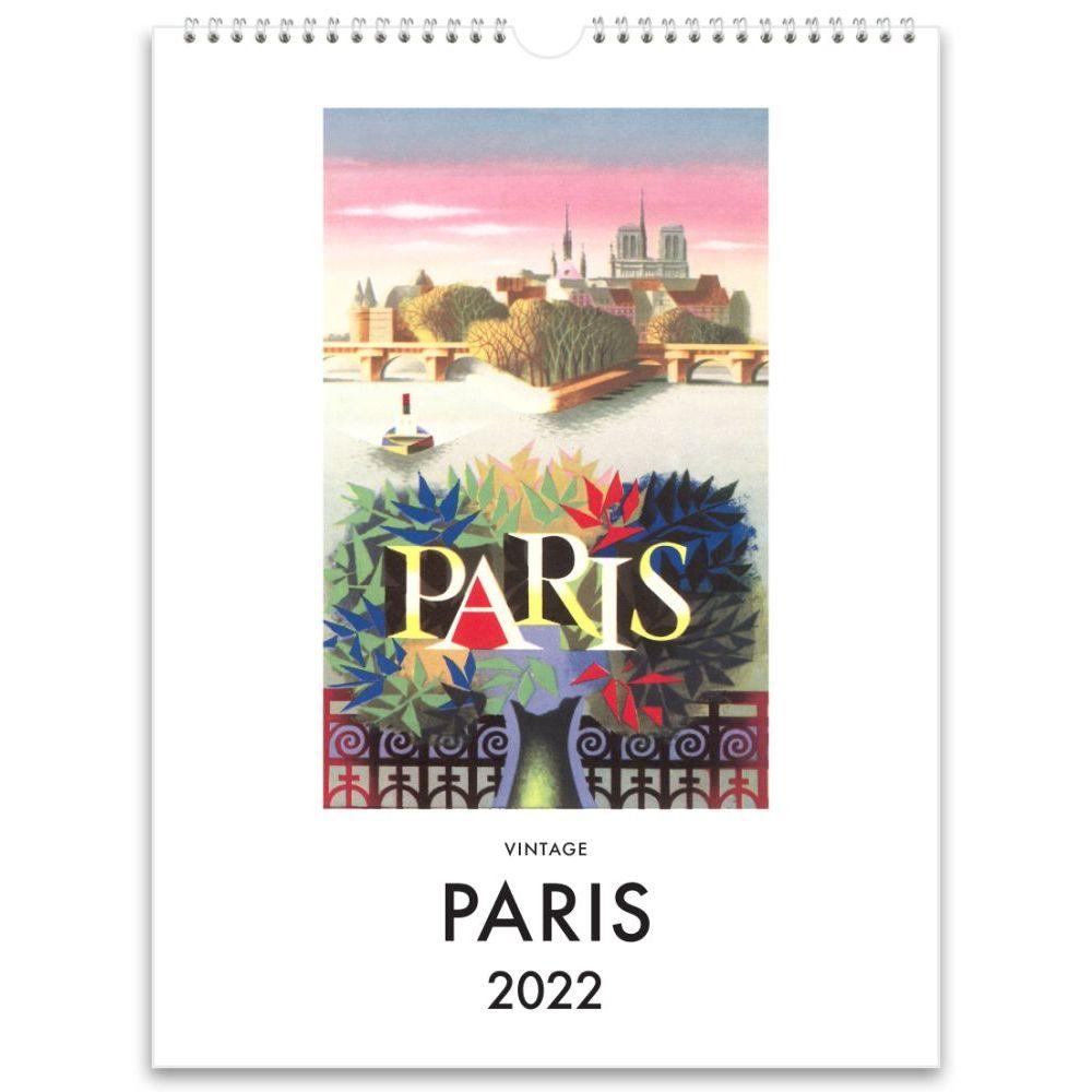 Paris Nostalgic 2022 Poster Wall Calendar