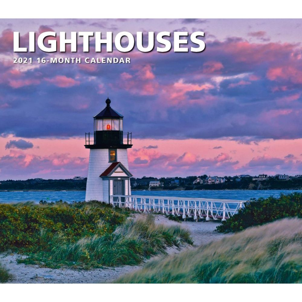 2021 Lighthouses Deluxe Wall Calendar