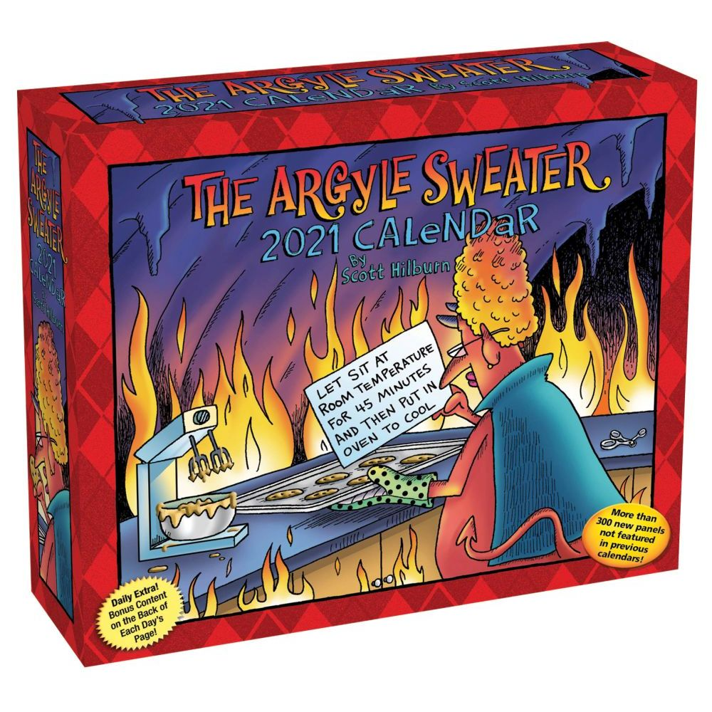 2021 Argyle Sweater Desk Calendar