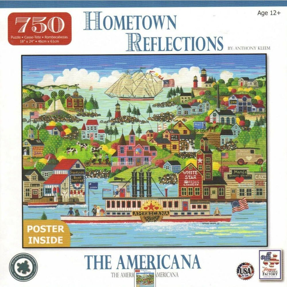 Best Americana Hometown Reflections 750 Piece Puzzle You Can Buy