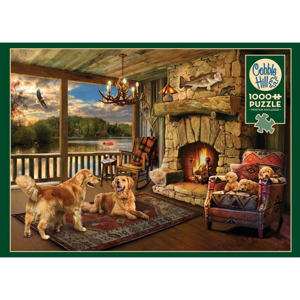 Best Lakeside Cabin 1000pc Puzzle You Can Buy