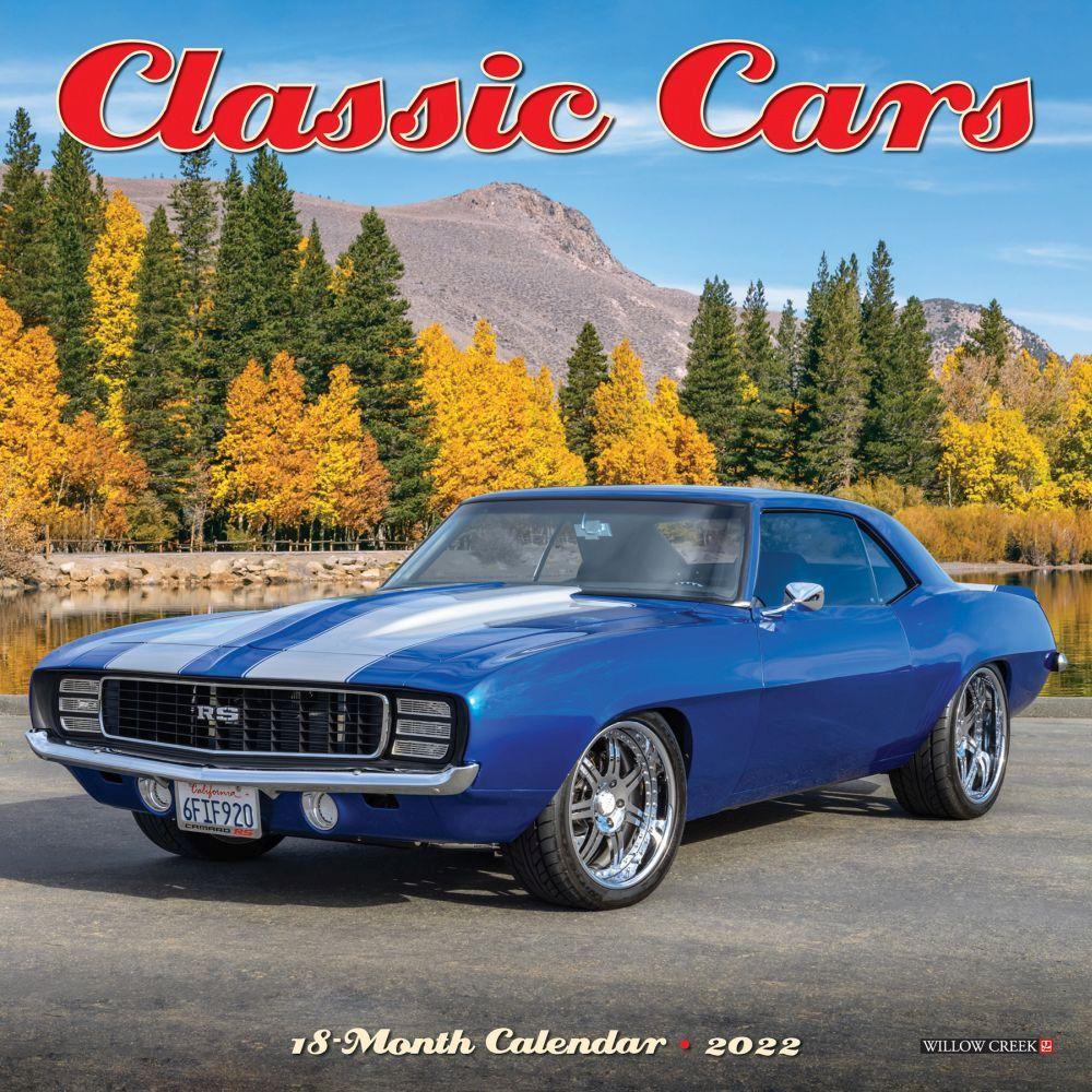 Classic Cars 2022 Mini Wall Calendar
