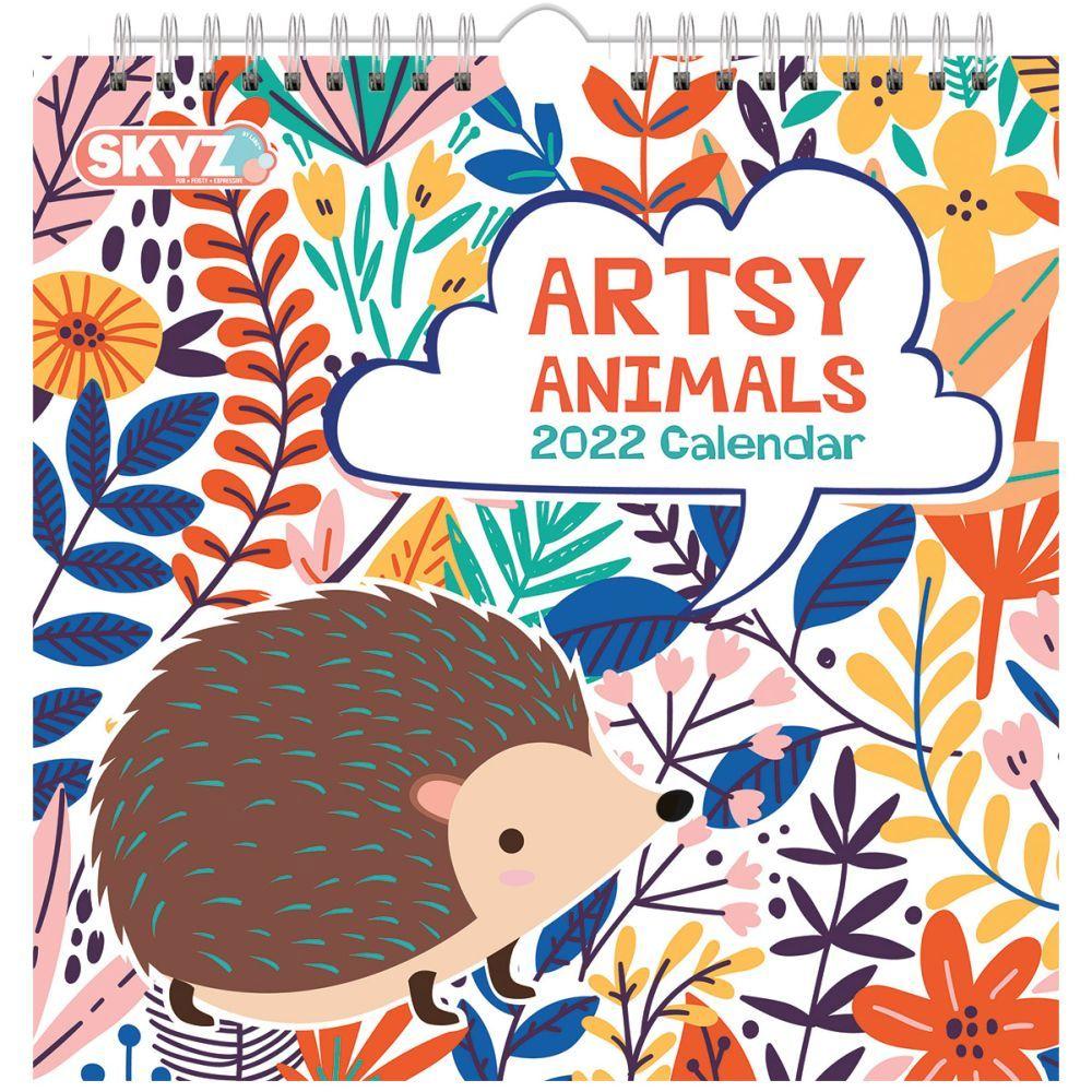 Artsy Animal 2022 Wall Calendar