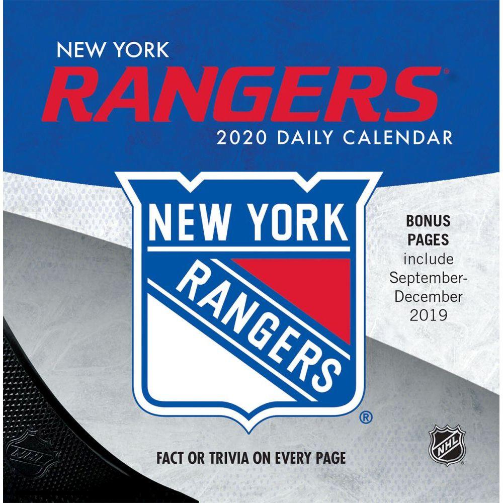 New York Rangers 2021 Desk Calendar