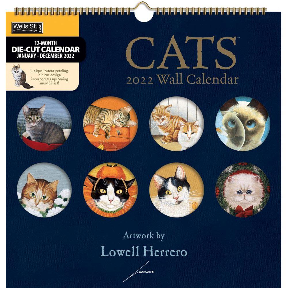 Cats 2022 DieCut Spiral Calendar