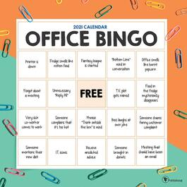 Office Bingo Wall Calendar