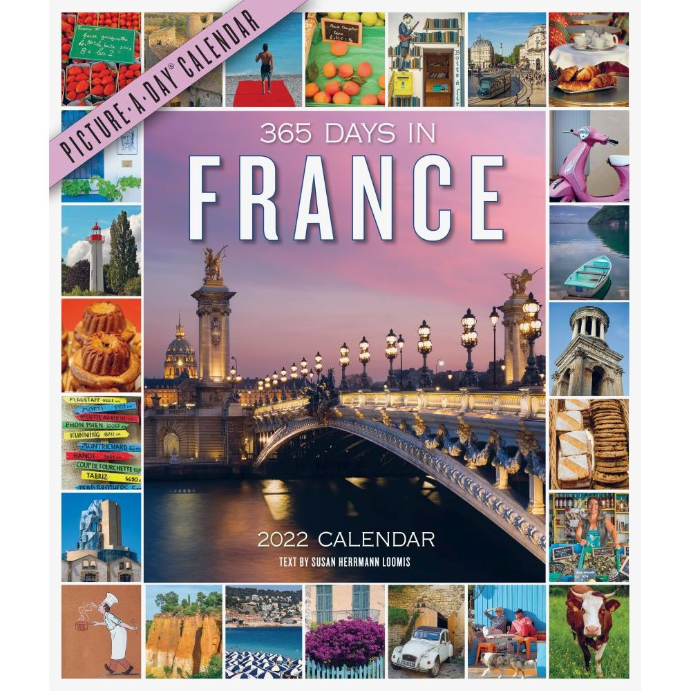 365 Days in France 2022 Wall Calendar