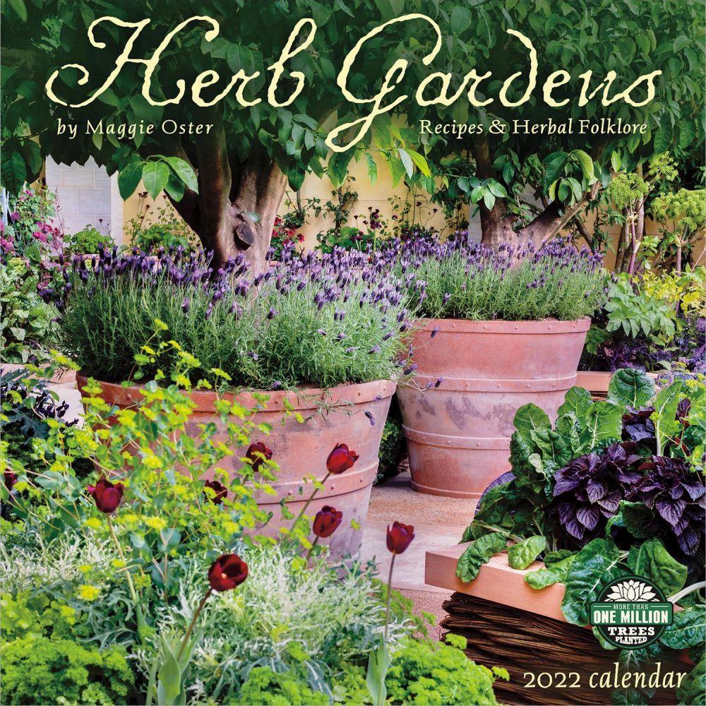 Herb Gardens 2022 Wall Calendar
