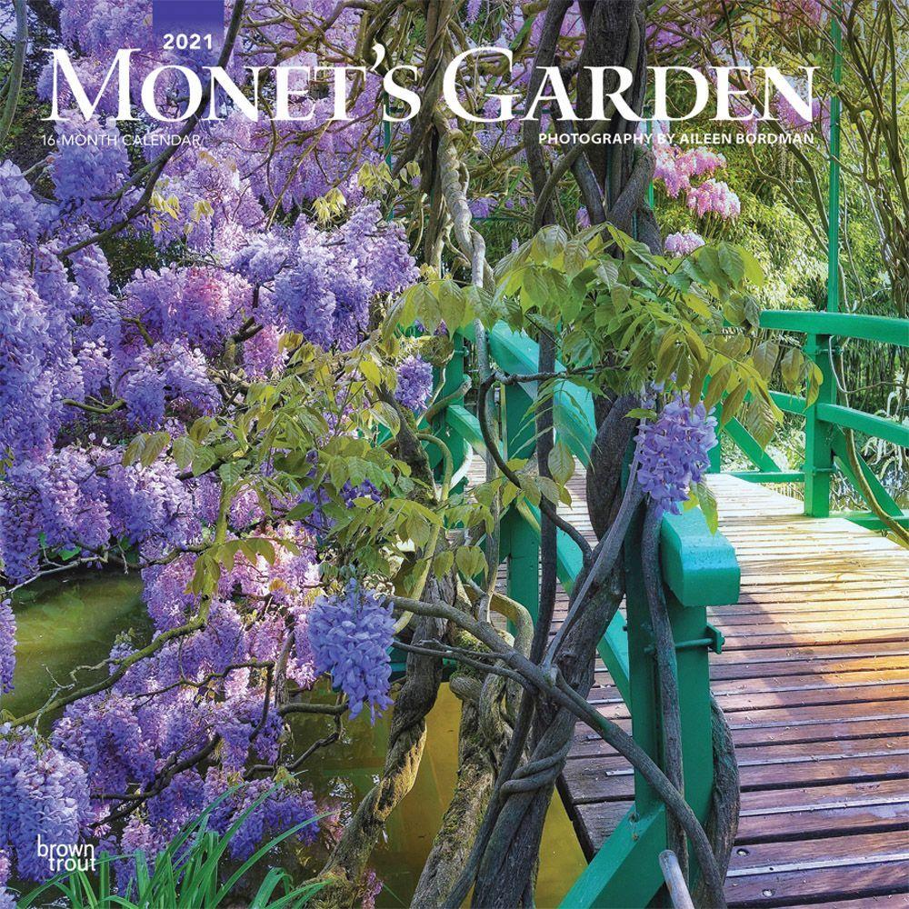 2021 Monets Garden Wall Calendar