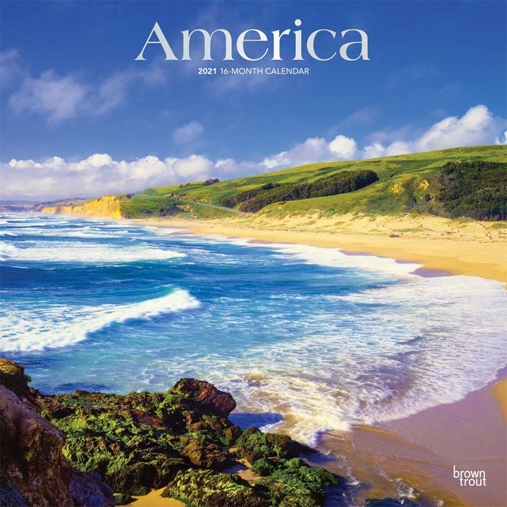 America 2021 Wall Calendar