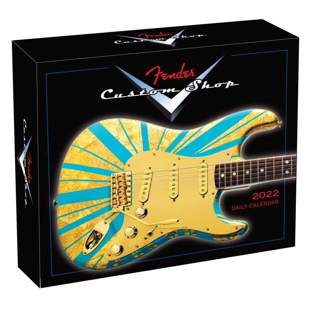 Fender Custom Shop Guitar 2022 Desk Calendar