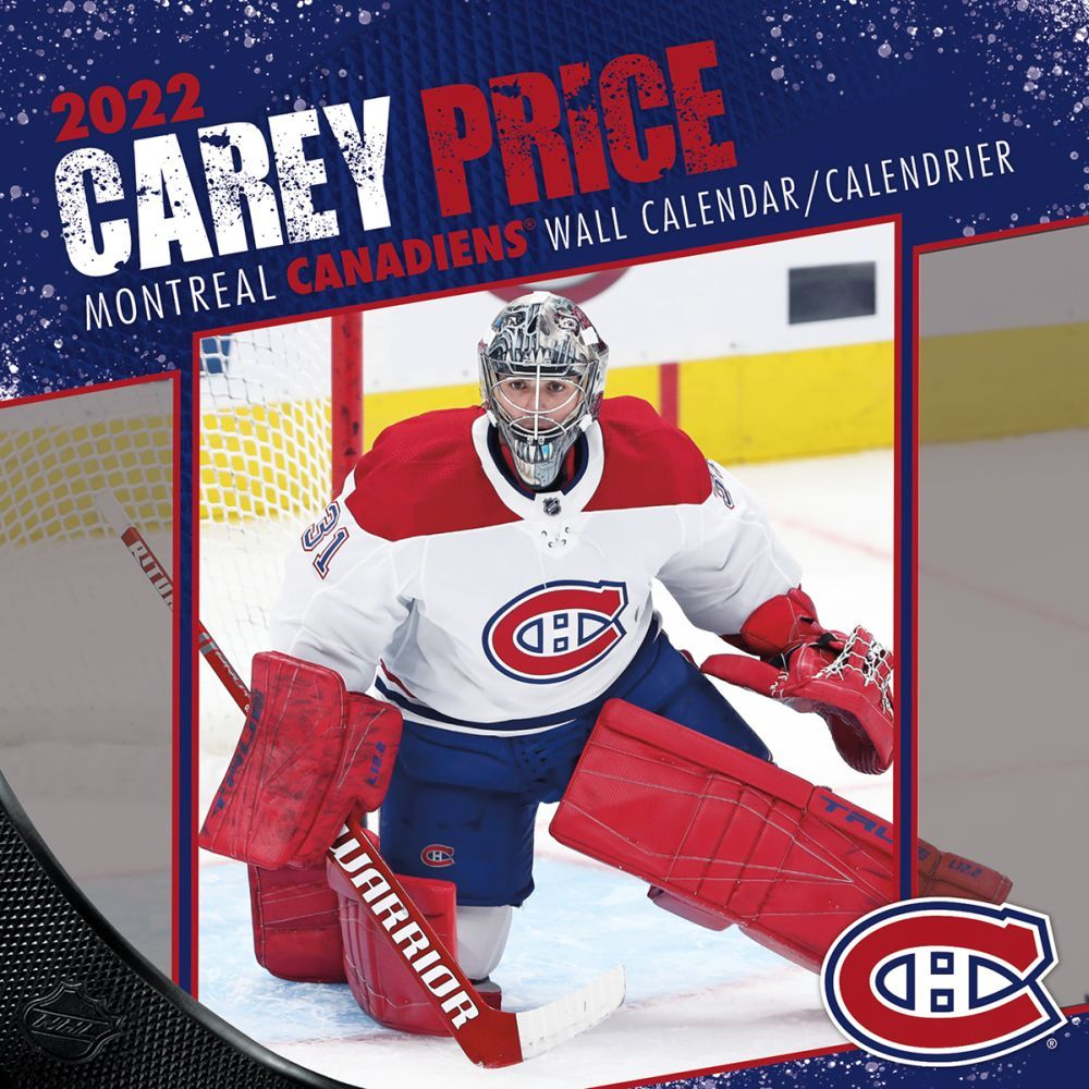 NHL Carey Price 2022 Wall Calendar