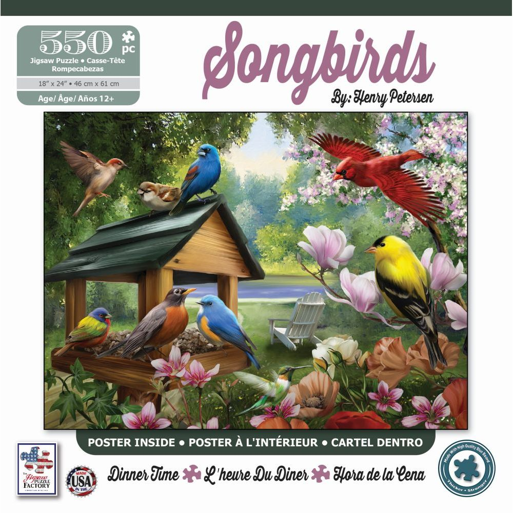 Best Songbirds Dinner Time 550 pc Puzzle You Can Buy