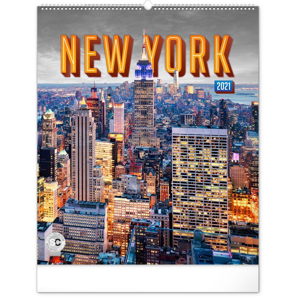2021 New York Poster Wall Calendar