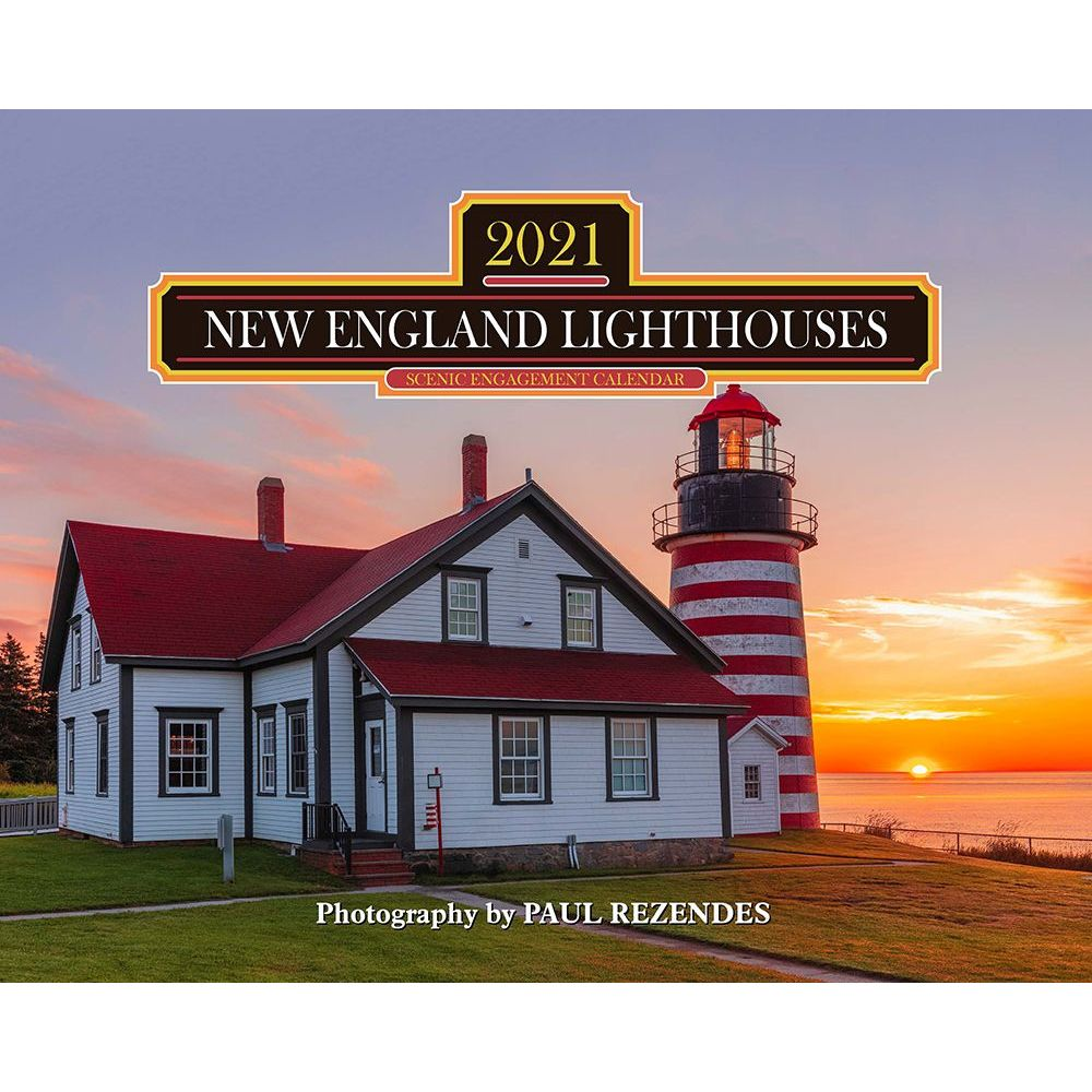 2021 Lighthouses of New England Wall Calendar