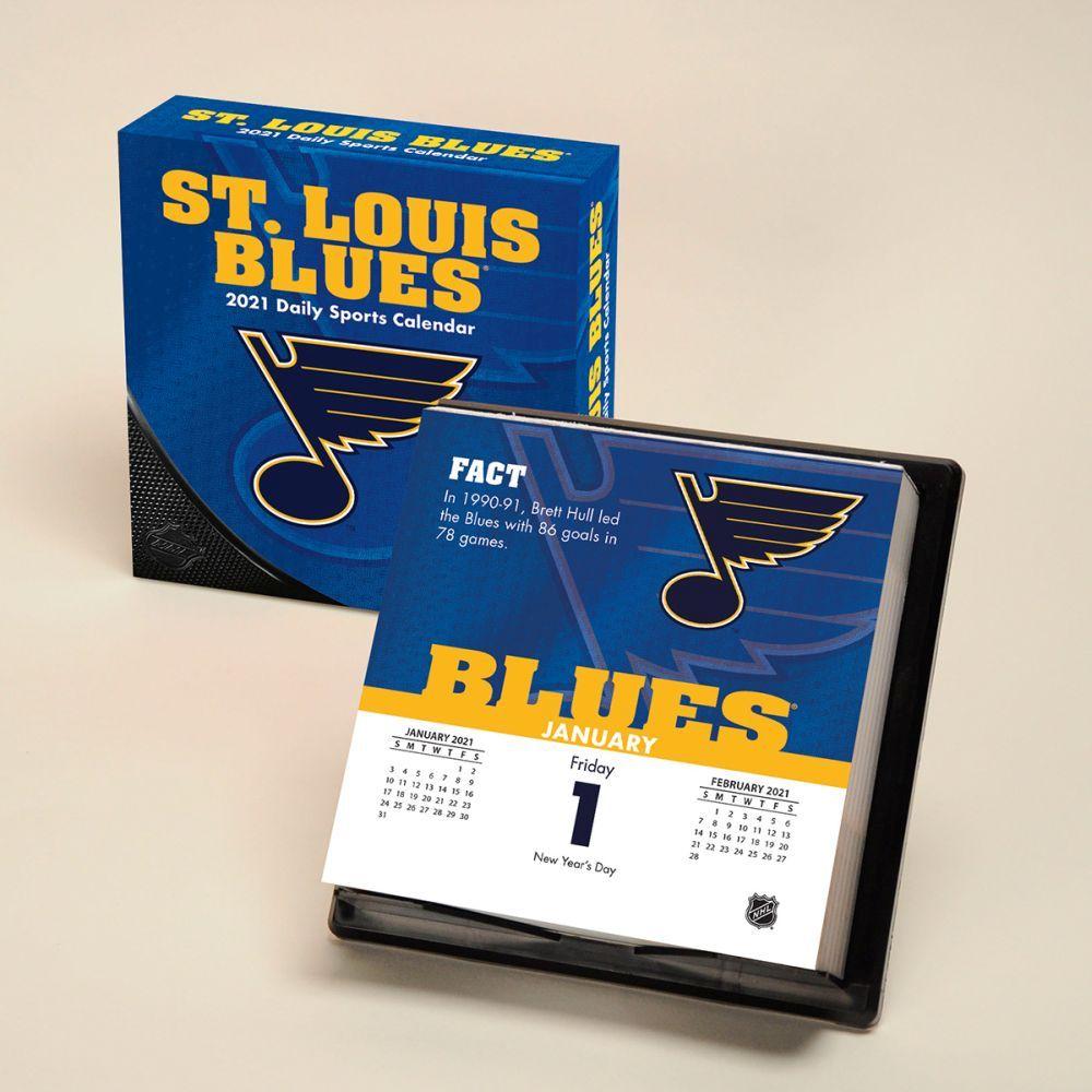 2021 St Louis Blues Desk Calendar