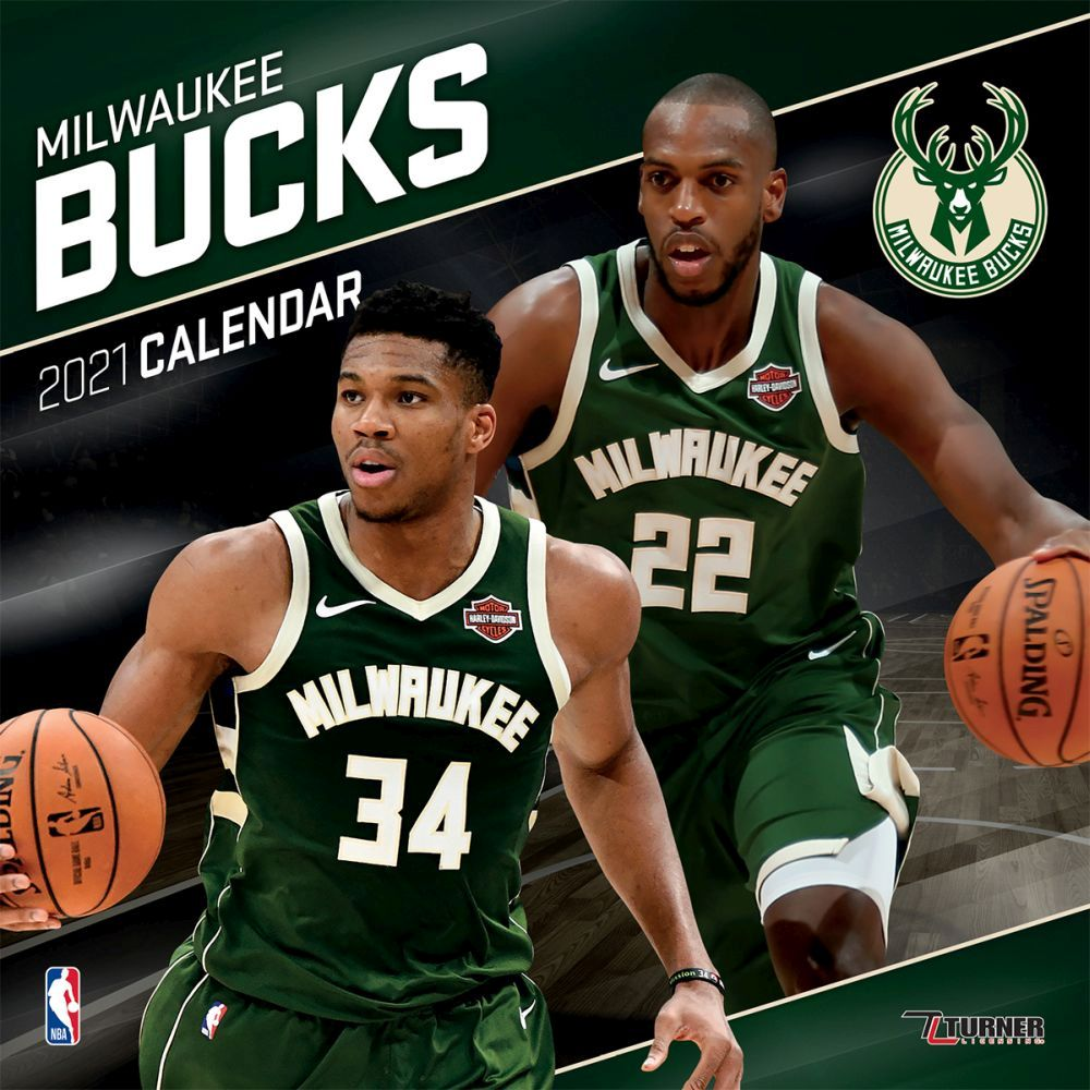 2021 Milwaukee Bucks Team Wall Calendar
