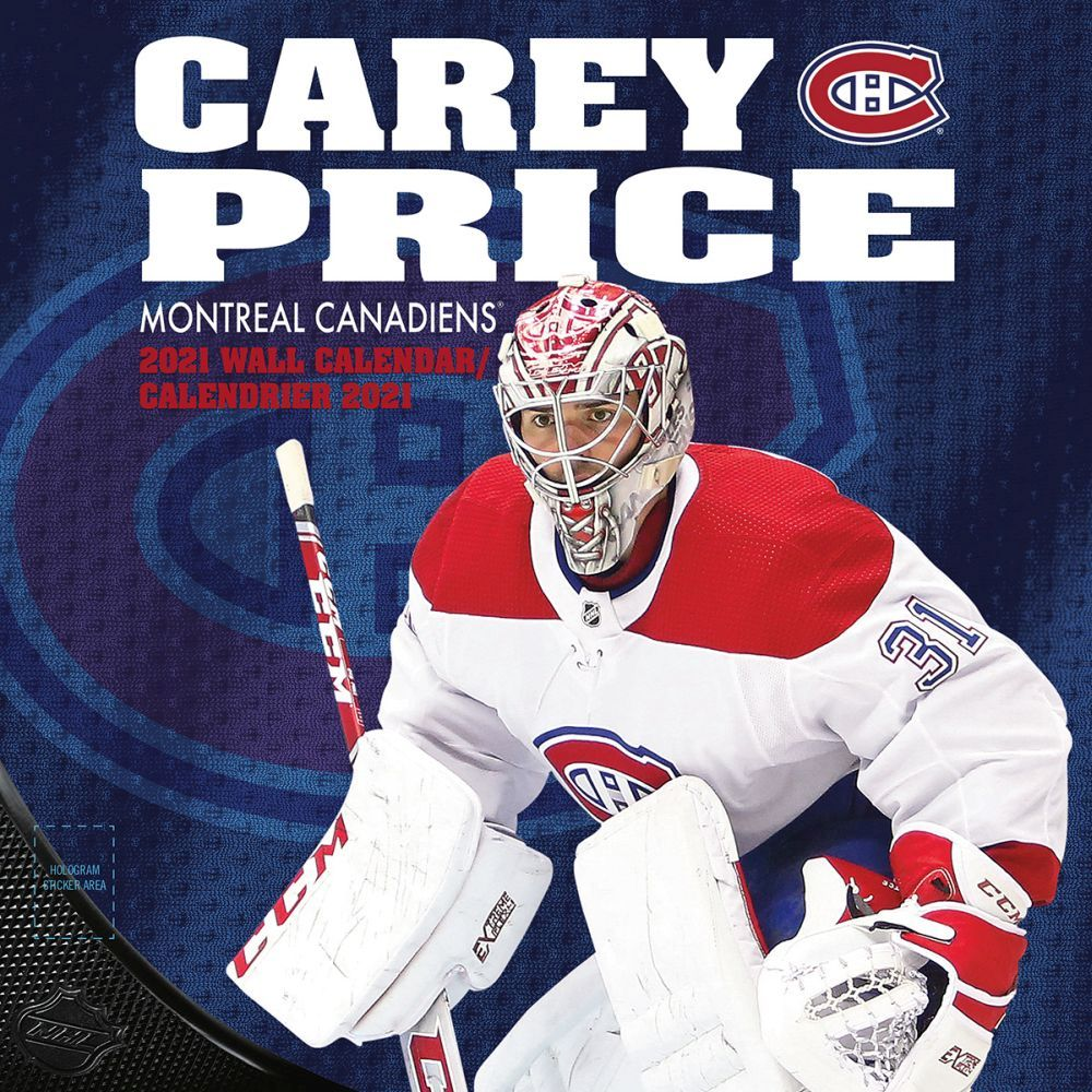 2021 Montreal Canadiens Carey Price - Bilingual Player Wall Calendar