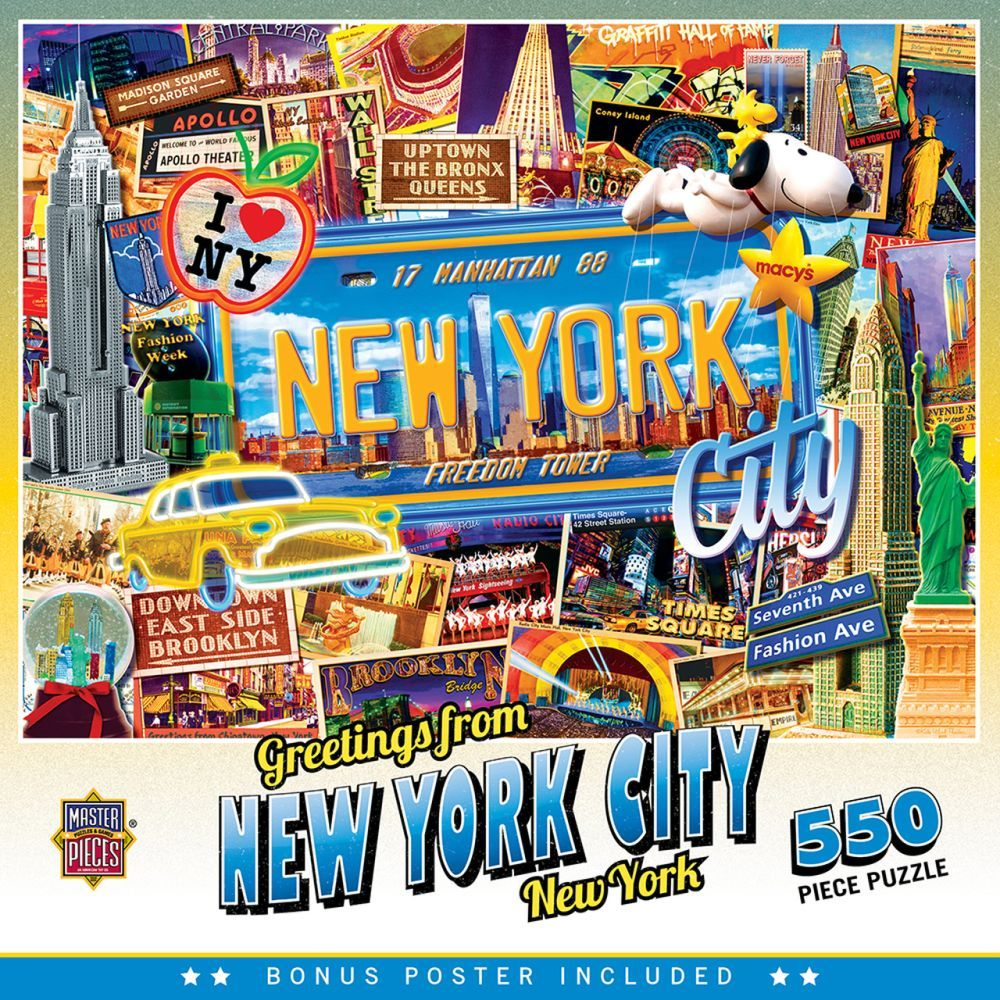 Best Greetings from New York 550pc Puzzle You Can Buy