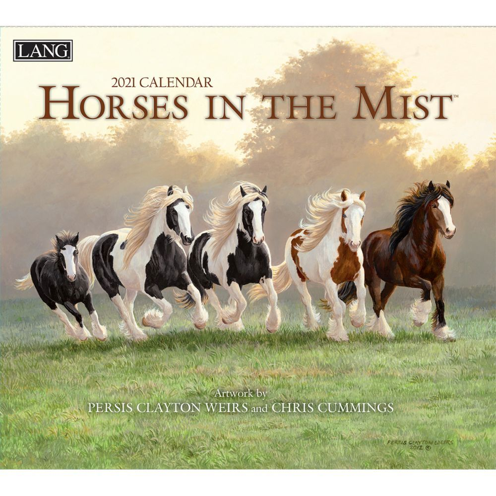 2021 Horses in the Mist Wall Calendar by Persis Clayton Weirs