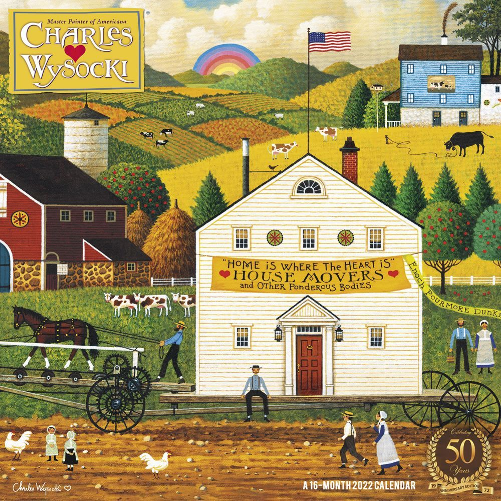Charles Wysocki Americana 2022 Wall Calendar