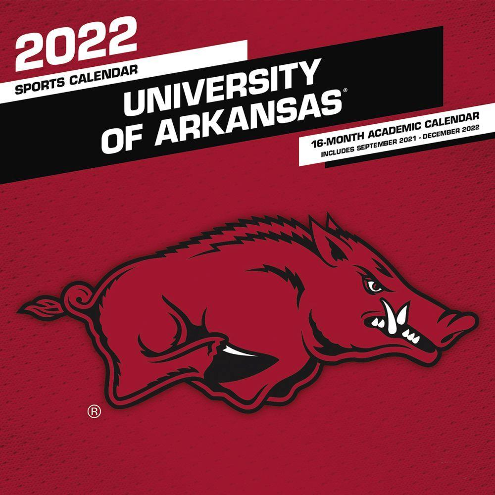 University of Arkansas Razorbacks 2022 Wall Calendar