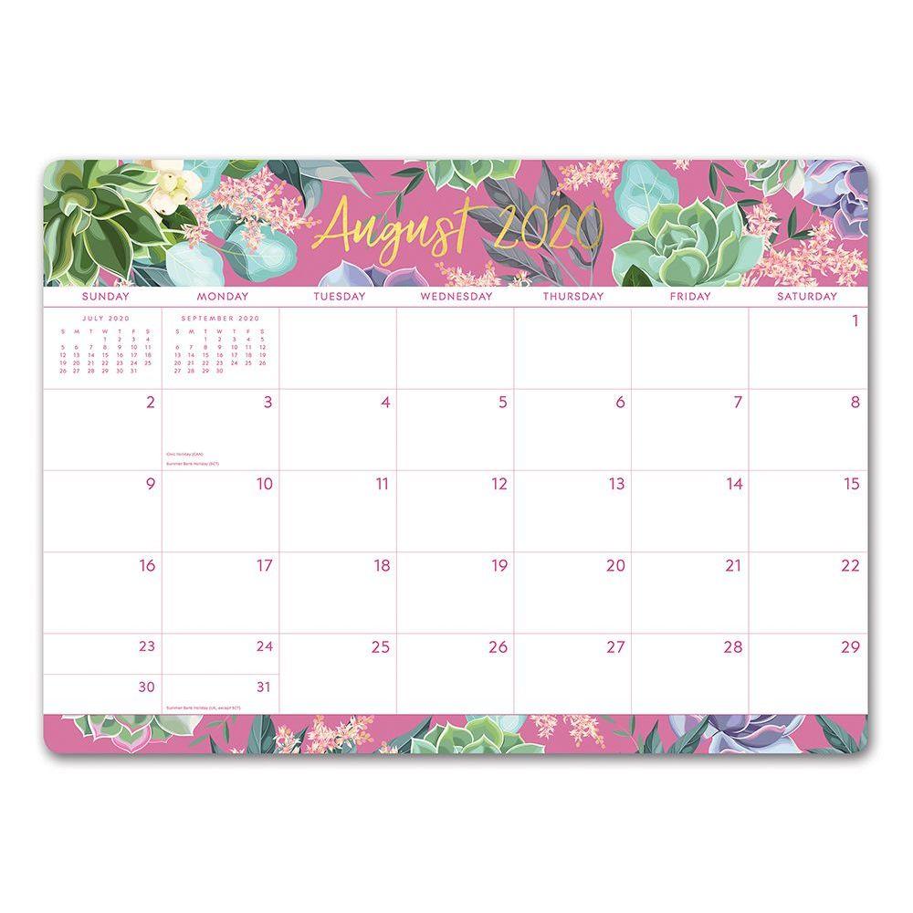 2021 Succulent Garden Decorative Desk Calendar
