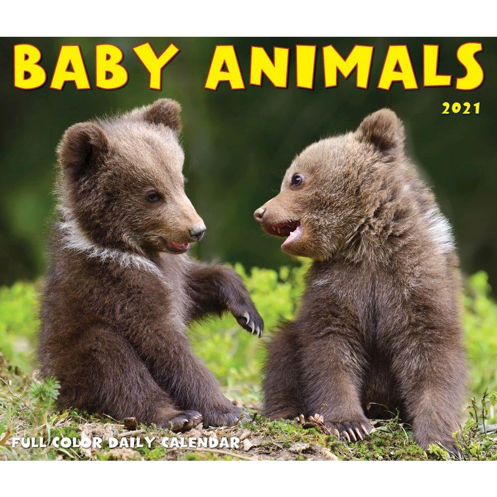 2021 Baby Animals Desk Calendar