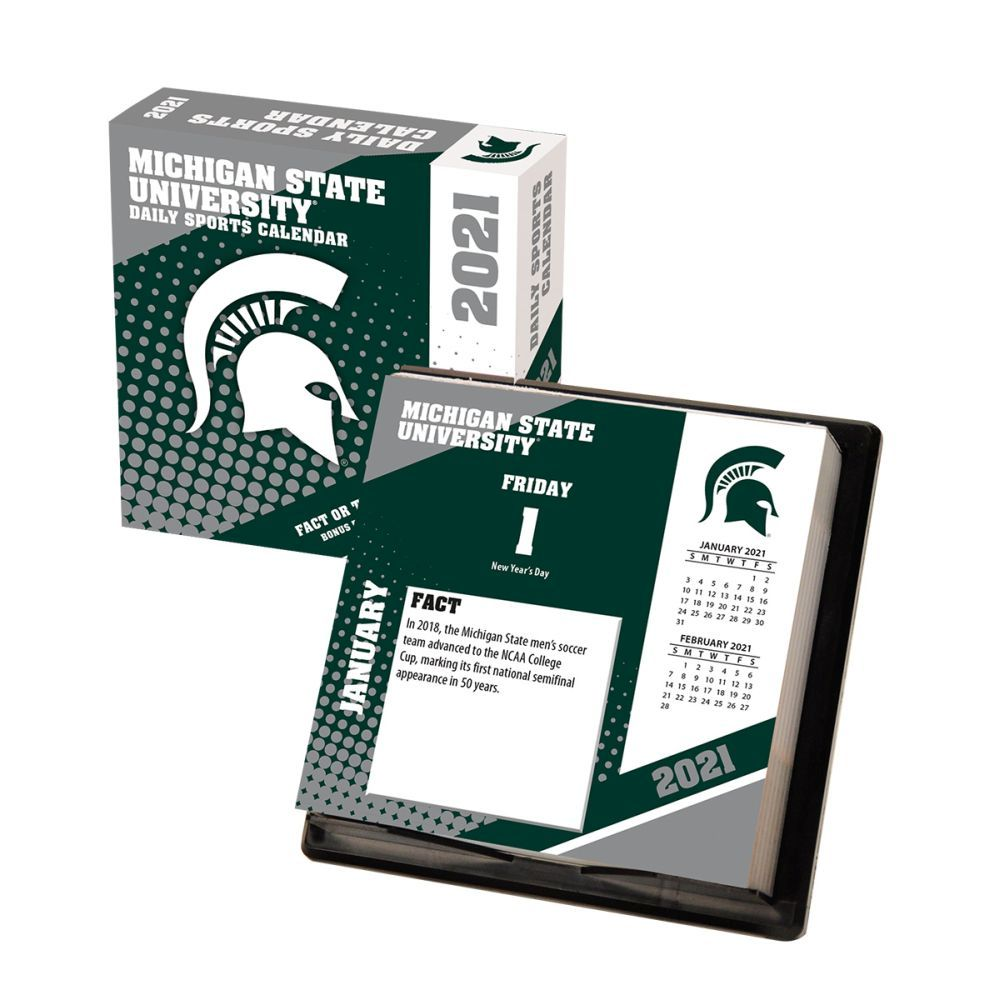 2021 Michigan State Spartans Desk Calendar