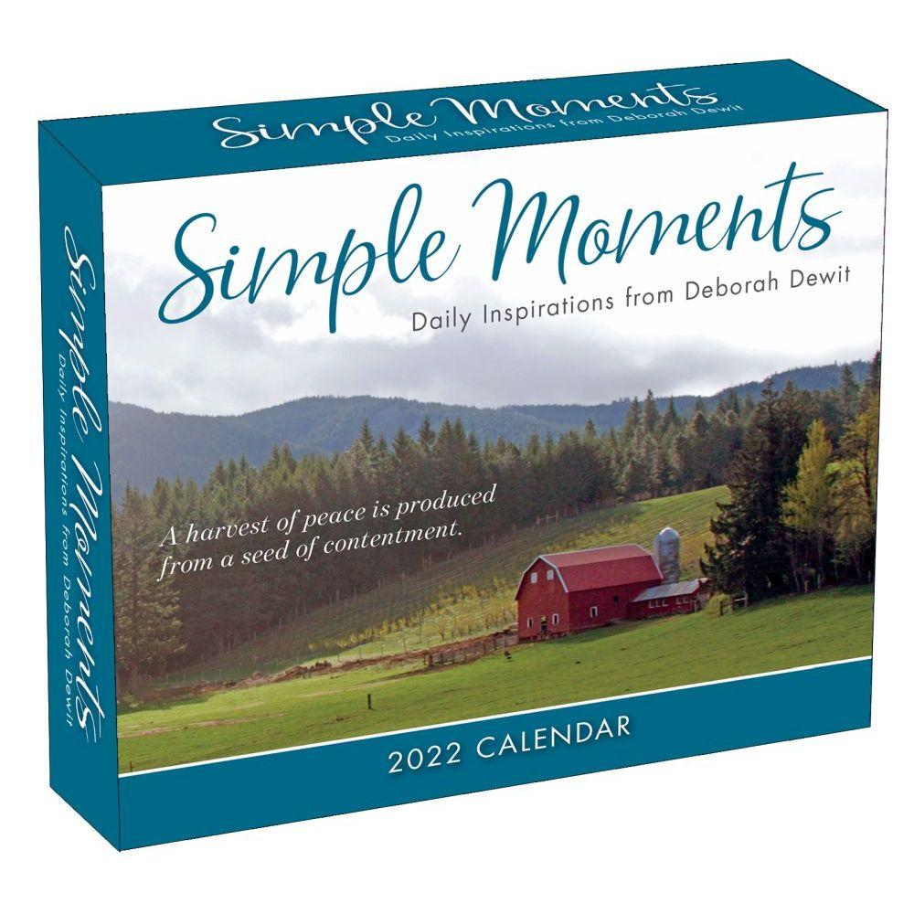 Simple Moments Daily Inspirations from Deborah DeWit 2022 Desk Calendar