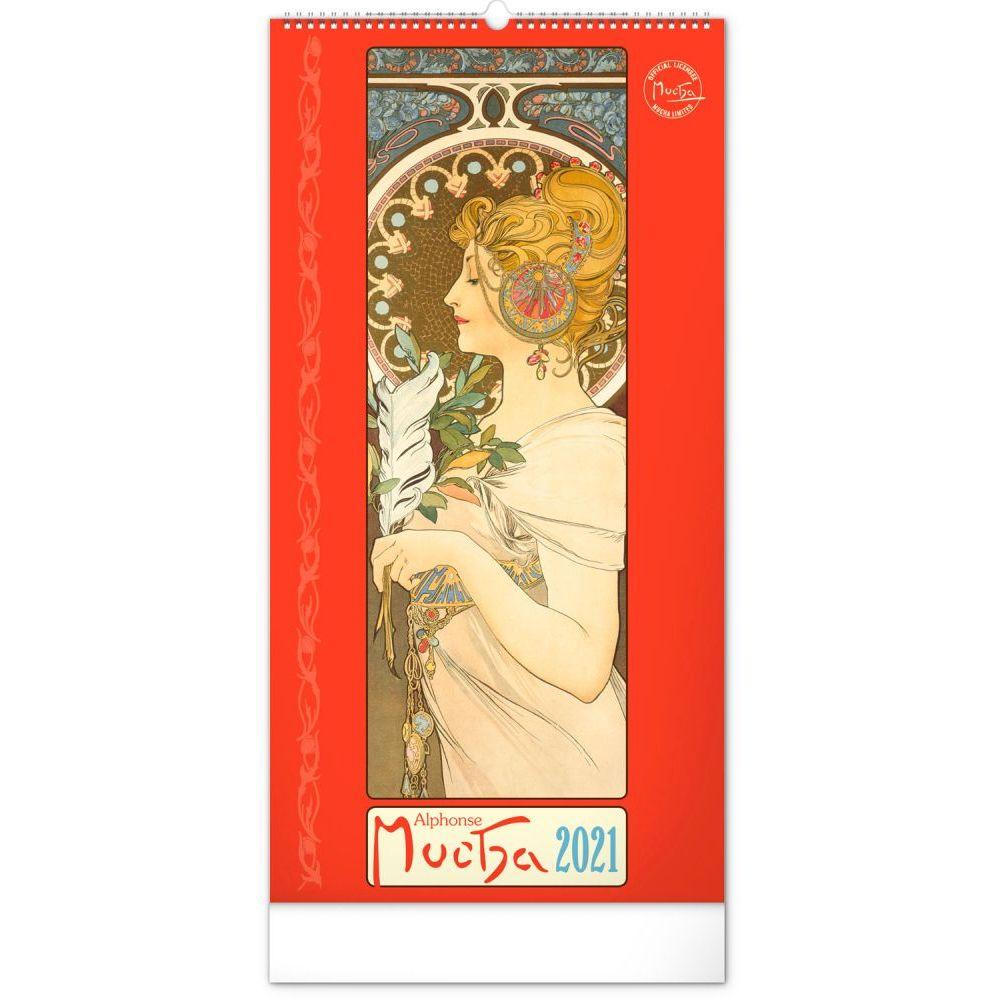 2021 Mucha Art Tall Poster Wall Calendar
