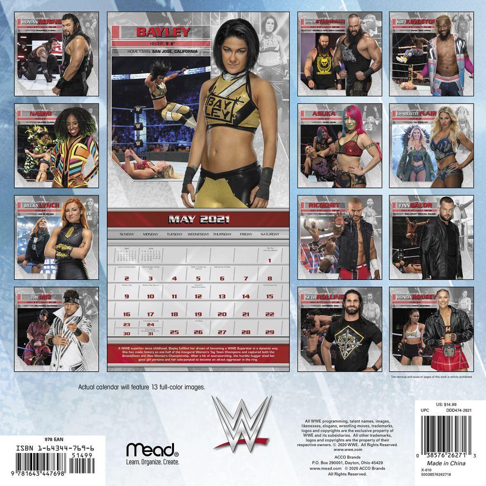 WWE Wall Calendar   Calendars.com