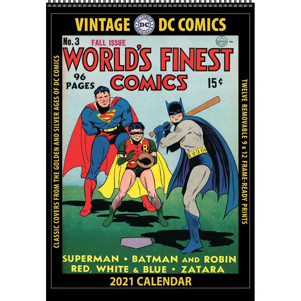 2021 DC Comics Vintage Wall Calendar