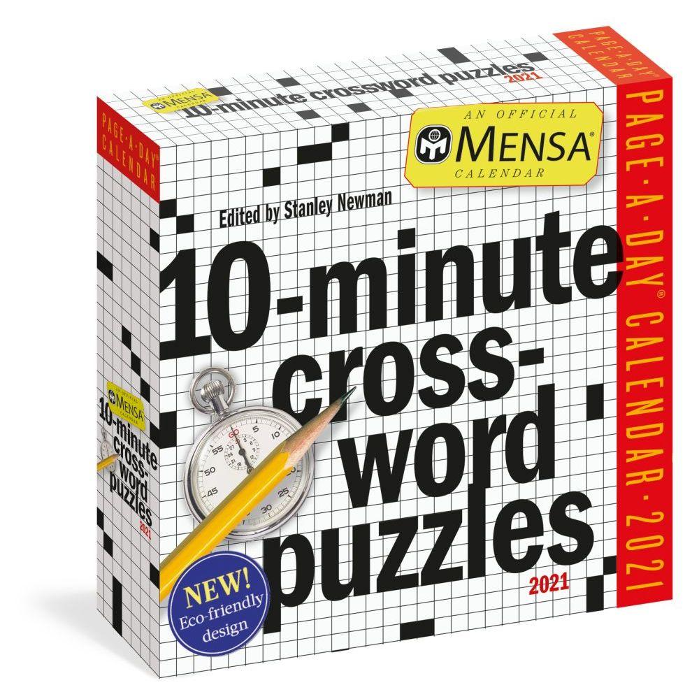 MENSA 10 Minute Crossword Puzzles 2021 Desk Calendar