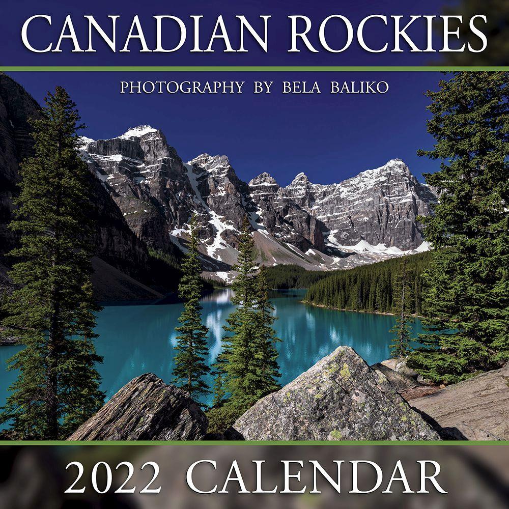 Canadian Rockies Moraine Lake 2022 Mini Wall Calendar