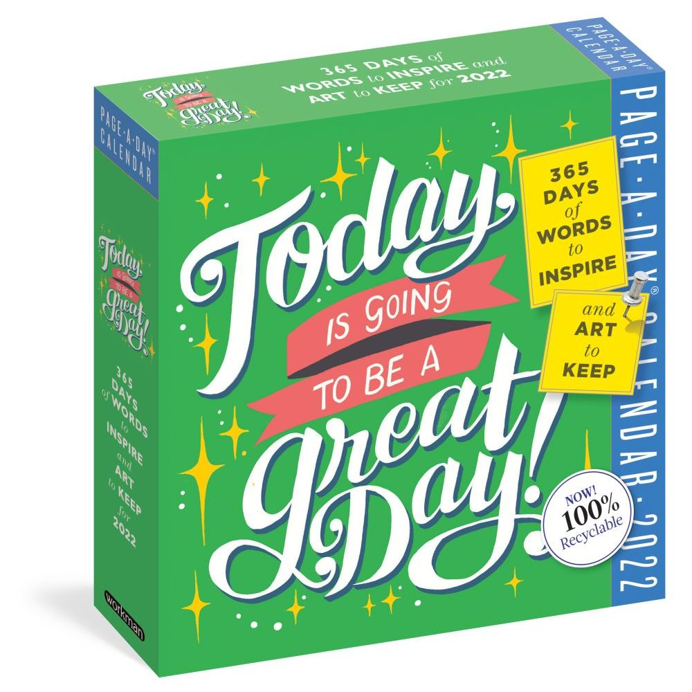 Today is Going to Be a Great Day! Color 2022 Page-A-Day Calendar