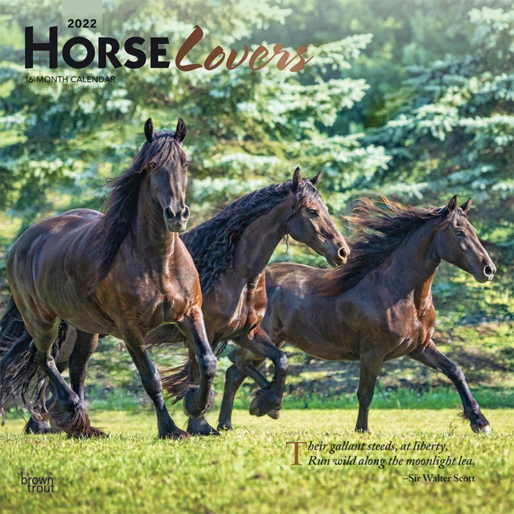 Horse Calendar 2022.Horse Lovers 2022 Wall Calendar Calendars Com