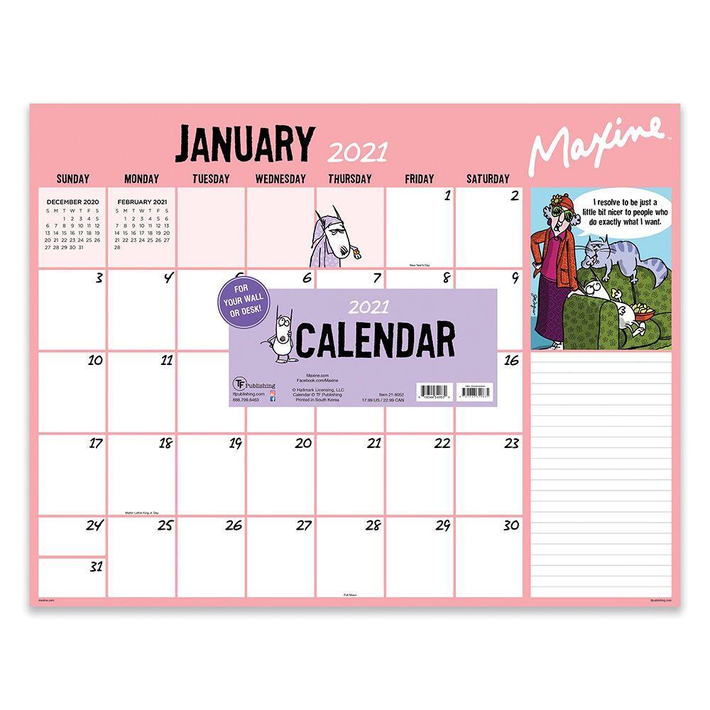 Maxine 2021 Desk Calendar