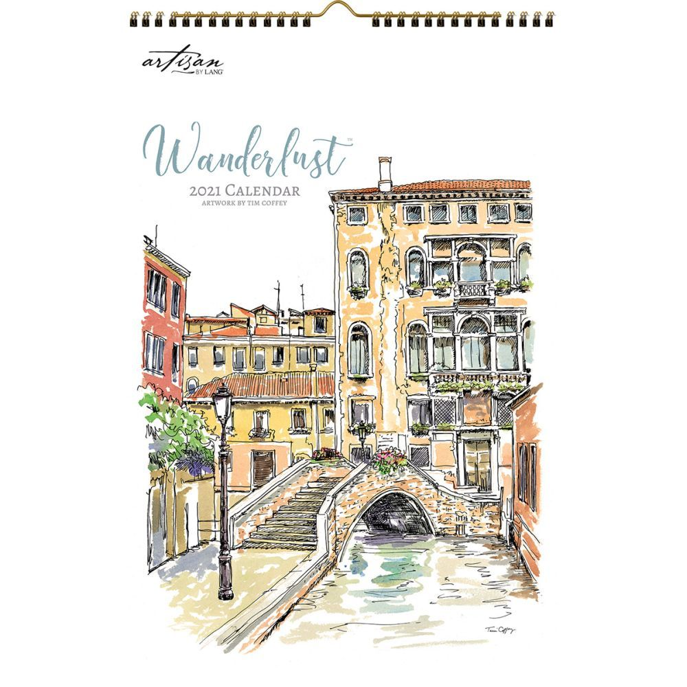 2021 Wanderlust Poster Wall Calendar by Tim Coffey