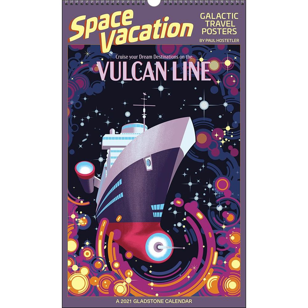 2021 Space Vacation Big Picture Wall Calendar