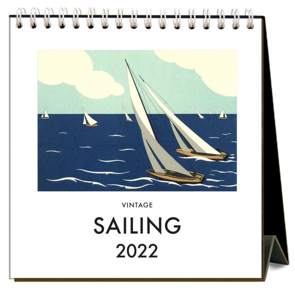Vintage Sailing 2022 Easel Desk Calendar