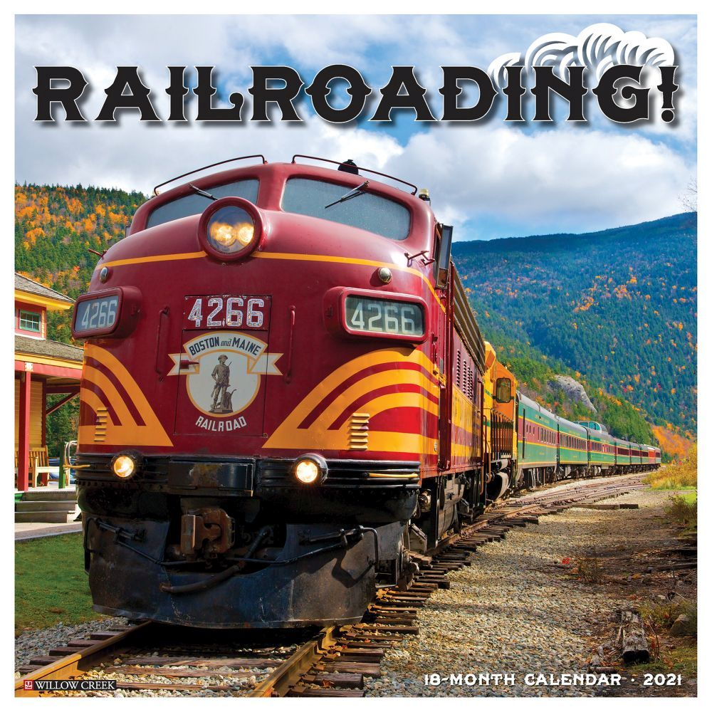 2021 Railroading Wall Calendar