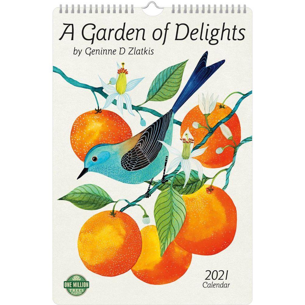 2021 Garden of Delights Zlatkis Poster Wall Calendar