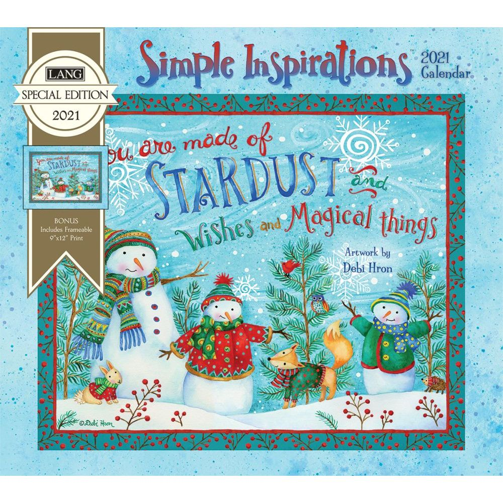 2021 Simple Inspirations Special Edition Wall Calendar