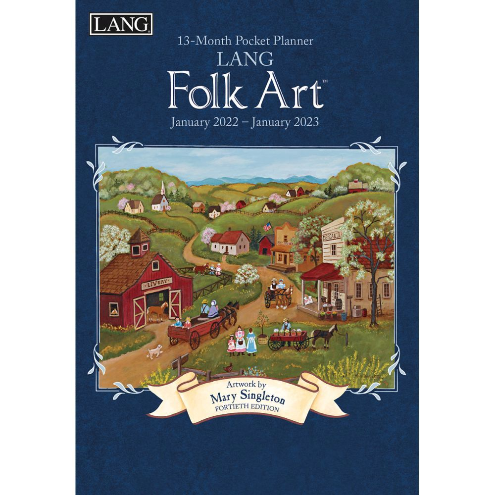 Lang Folk Art Monthly 2022 Pocket Planner