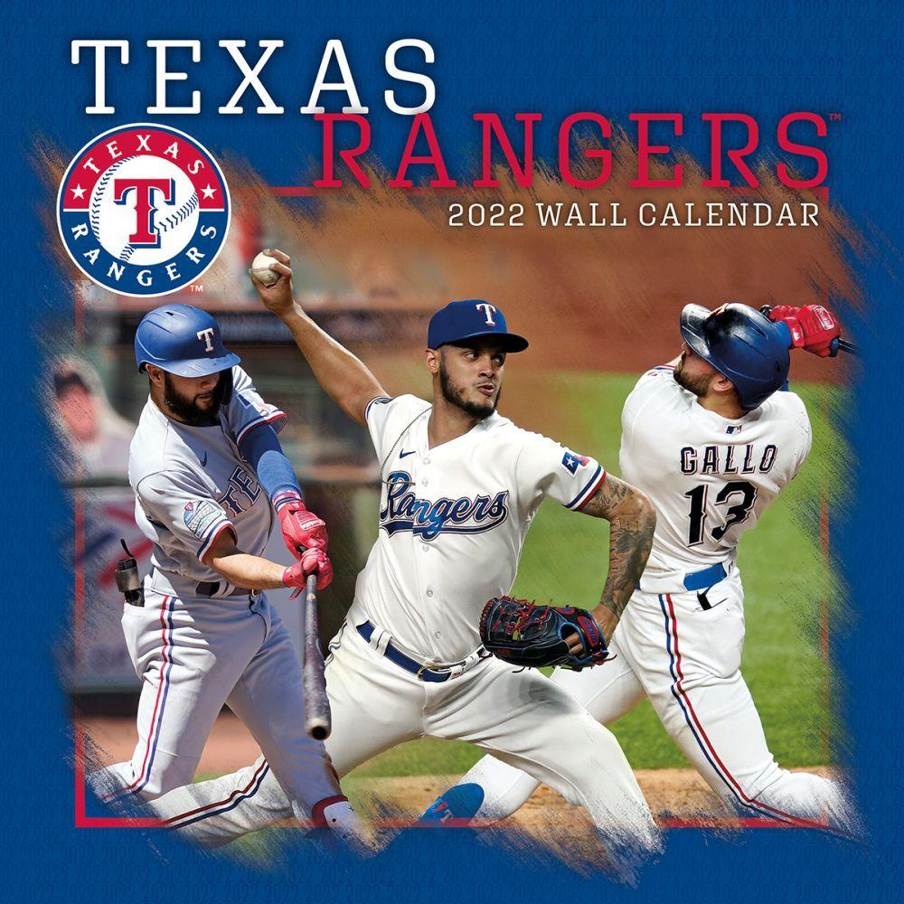 Texas Rangers 2022 Wall Calendar