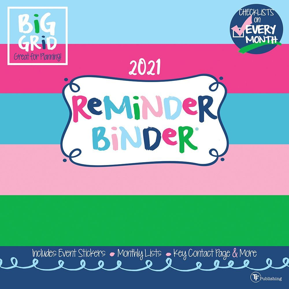 2021 Reminder Binder Wall Calendar