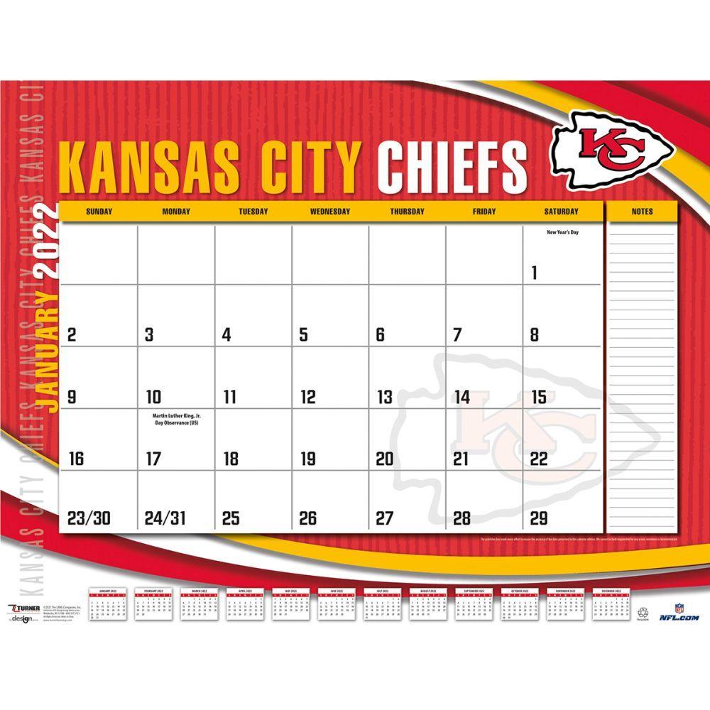 Kansas City Chiefs 2022 Desk Pad
