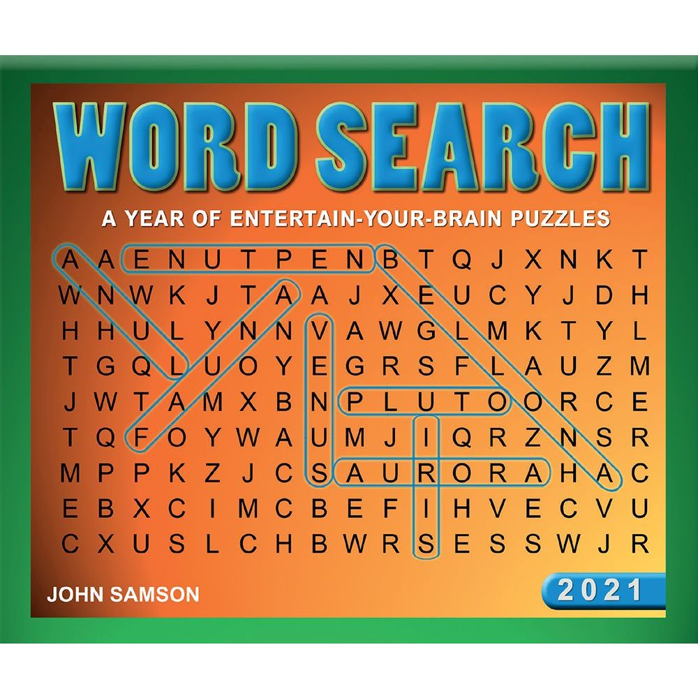 Word Search 2021 Desk Calendar